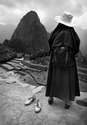 Dad's bowling shoes at Machu Picchu with Nun who walked into the frame